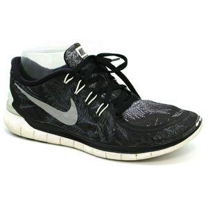 Nike Womens Free 5.0 Solstice Black Sneakers 8.5
